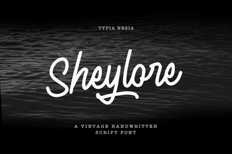 Sheylore - Vintage Handwritten example image 1