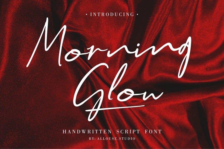 Web Font - Morning Glow - Handwritten Script Font example image 1