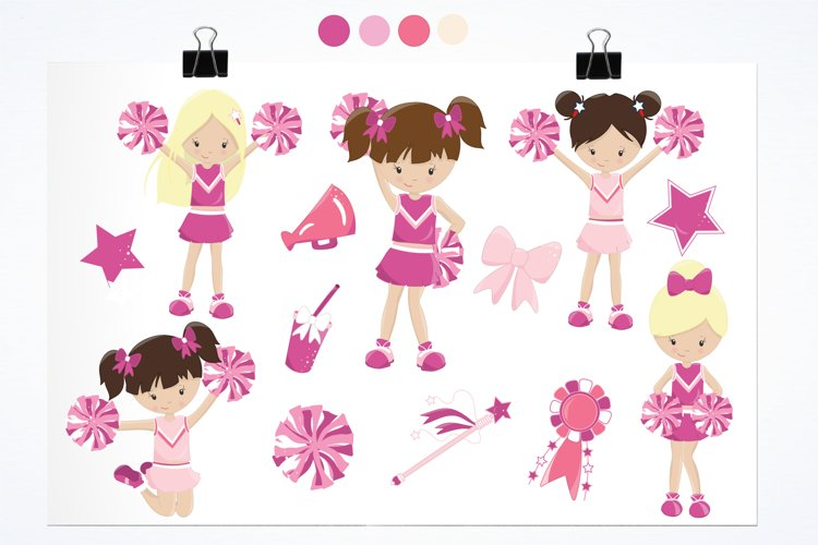 Cheerleaders graphics and illustrations - Free Design of The Week Design0
