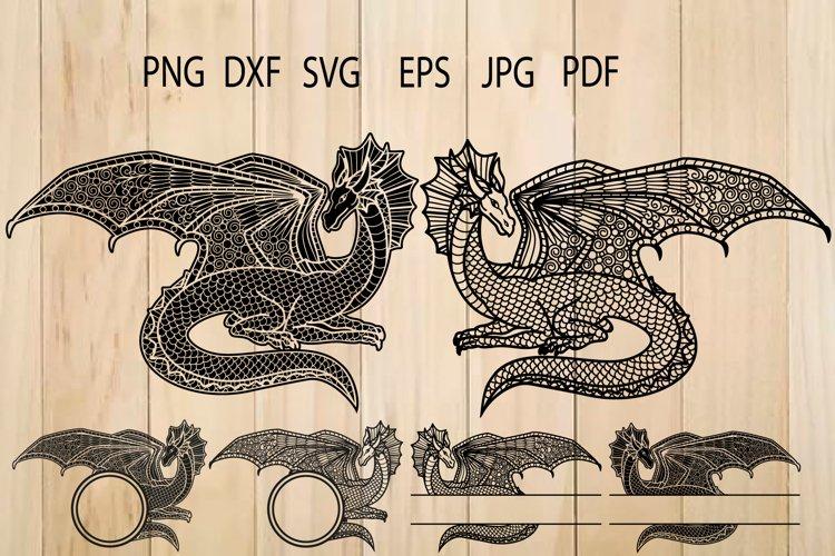 Dragon Zentangle SVG, Dragon Svg, Dragon Clipart