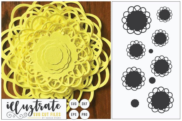 Paper Cut Flowers SVG Cut File - Paper Cutting Bundle DIY - Free Design of The Week Design3