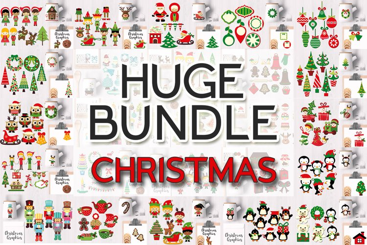 Christmas Bundle, Huge Clip Art Collection example image 1