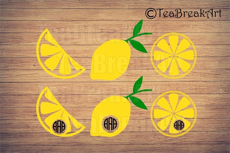 Lemon Cutting Files SVG clipart digial design