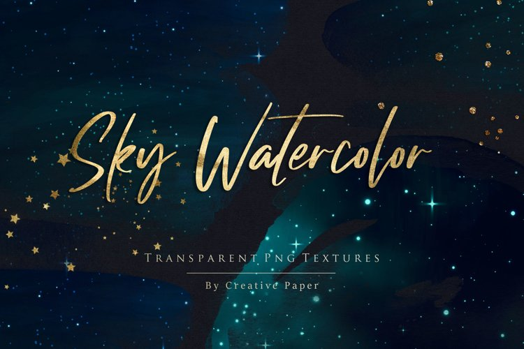 Sky Watercolor - Gold Png Overlays example image 1
