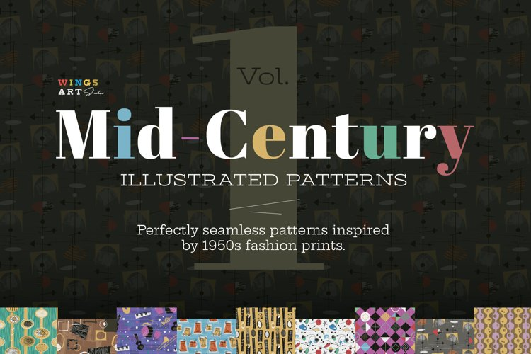 1950s Retro and Mid-Century Patterns
