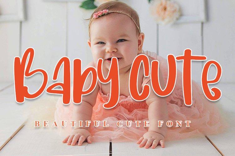 Baby Cute - Beautiful Cute Font example image 1