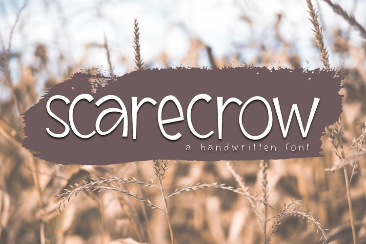 Scarecrow - A Handwritten Font example image 1
