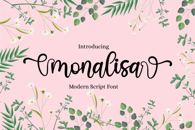 monalisa modern script font example image 1
