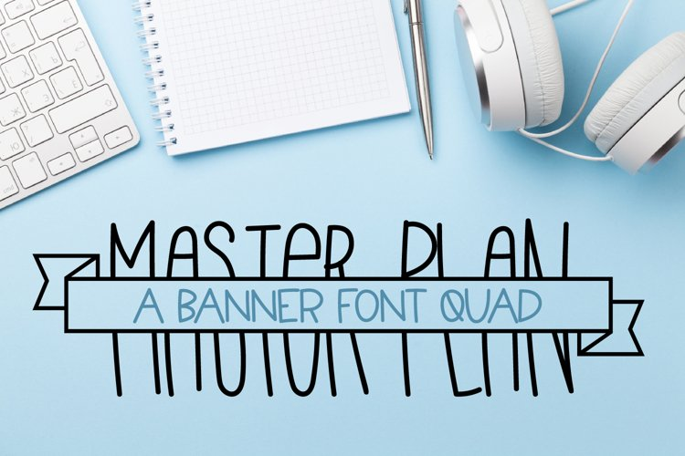 Master Plan - A Banner Font Quad example image 1