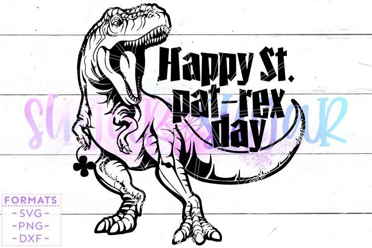 St Pat-Rex Day Dinosaur St Patricks Day svg