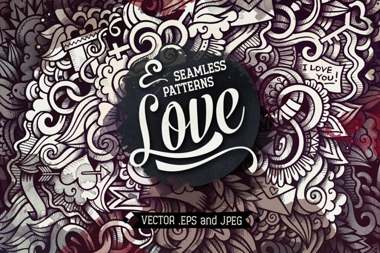 Love Graphics Doodle Patterns
