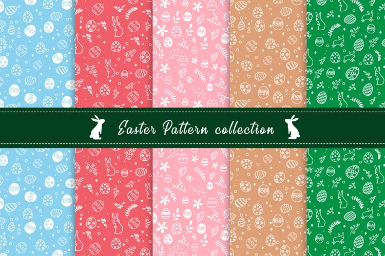 Flat Easter Day Pattern Collection example