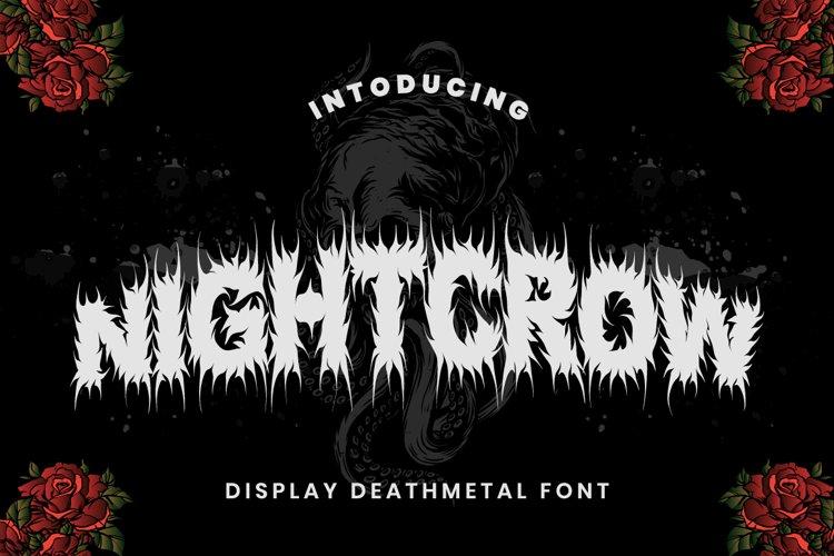 NIGHTCROW - Deathmetal Font example image 1