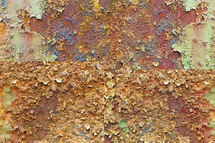 Texture of metal corrosion, collection. example image 1