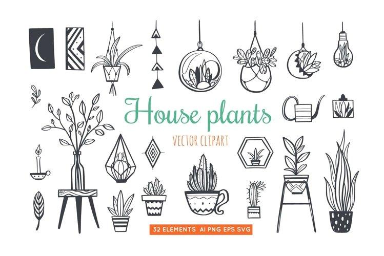 Home Plants in pots , gardening SVG bundle example image 1