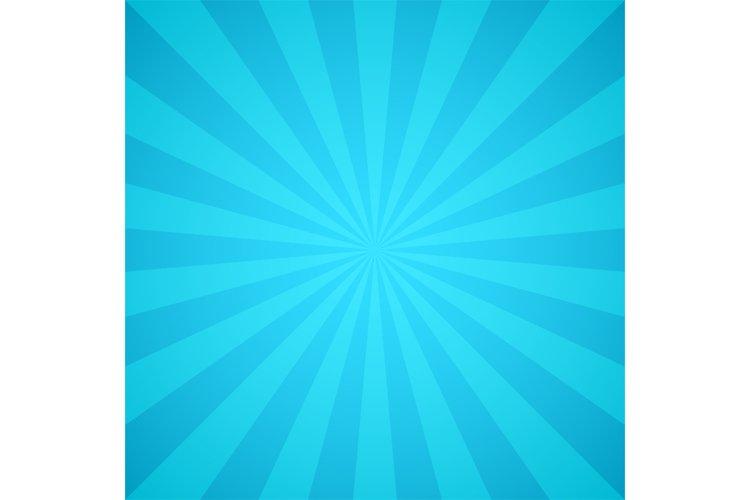 Retro blue rays of light. Colorful sunburst and sunshine ray example image 1