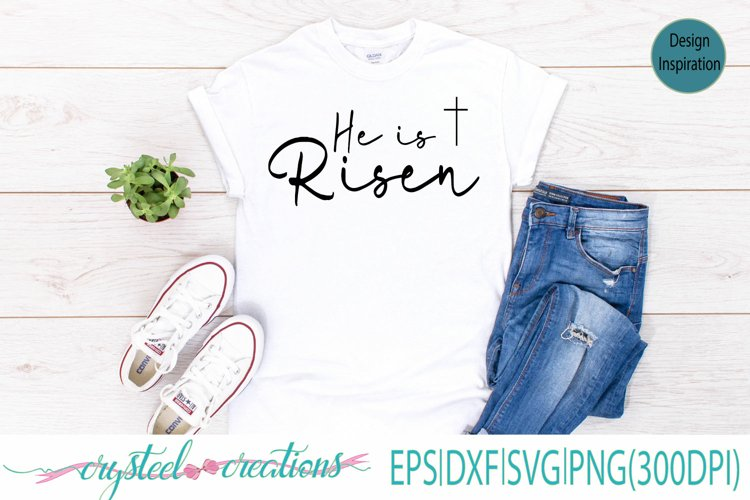 He is risen SVG, DXF, EPS, PNG 300dpi example image 1