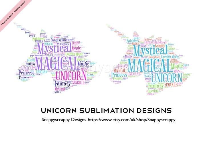 Unicorn Sublimation Designs example image 1