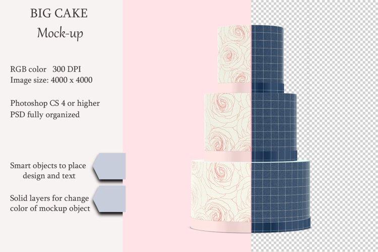 Cake mockup. Product place. PSD object mockup. example image 1