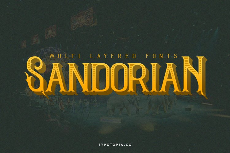 Sandorian Multi Layered Fonts example image 1