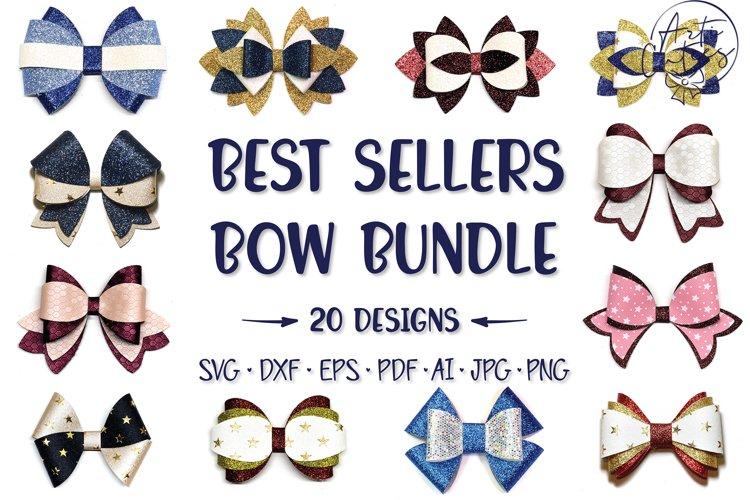 20 Hair bow template SVG bundle