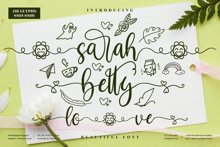 sarah betty - Beautiful Script Font example image 1