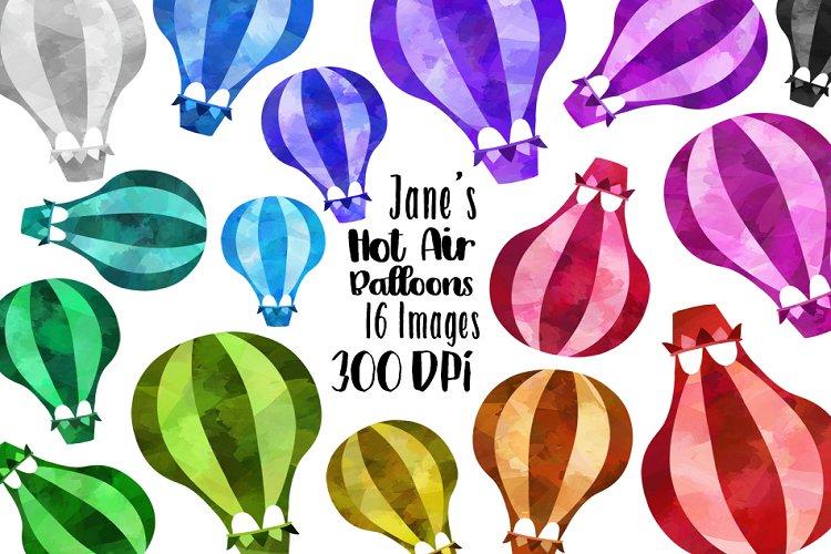 Watercolor Hot Air Balloon Clipart