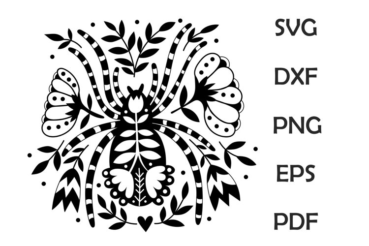 Spider Folk Art SVG