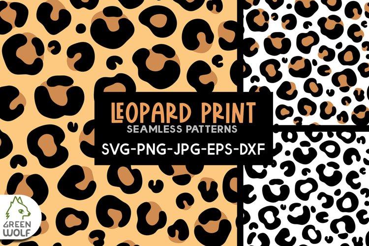 Leopard print svg Animal skin svg Seamless pattern bundle