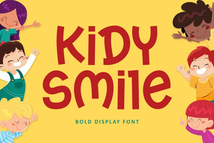 Kidy Smile - Bold Display Font