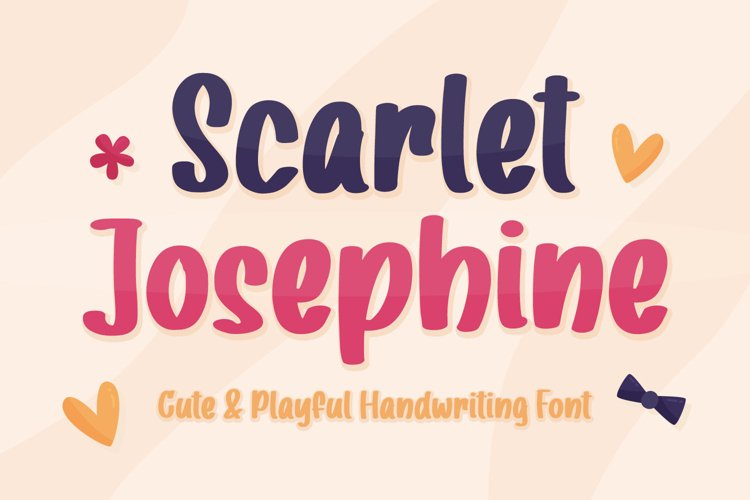 Cute Handwritten Font - Scarlet Josephine