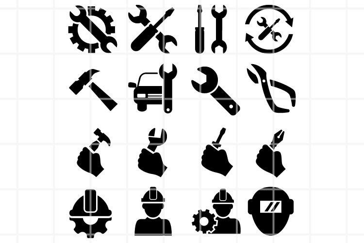Repair SVG. Repair cut file. Tools cutting set. example image 1
