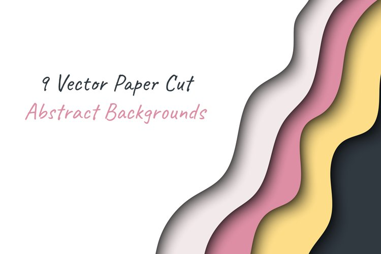Paper cut abstract backgrounds collection