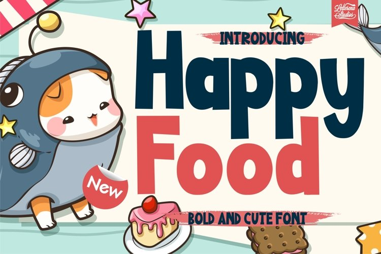 Happy Food - Bold and CuteFont example image 1