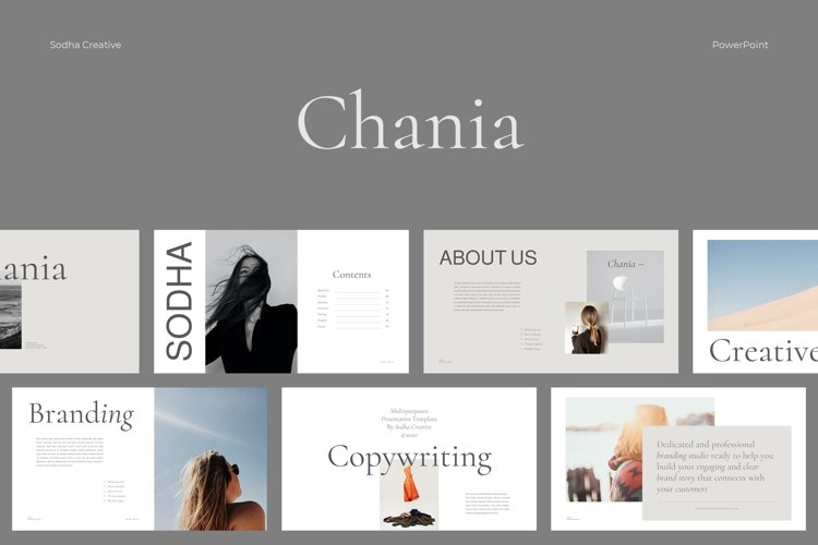 CHANIA- Powerpoint Template example image 1