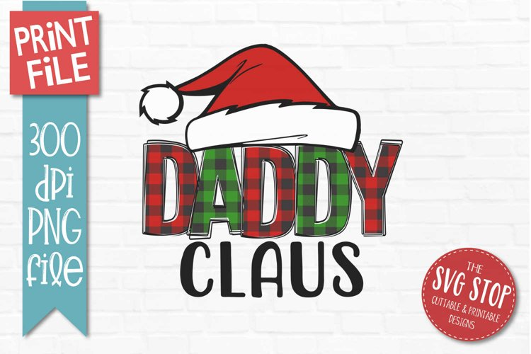 Daddy Claus Christmas Sublimation PNG example image 1