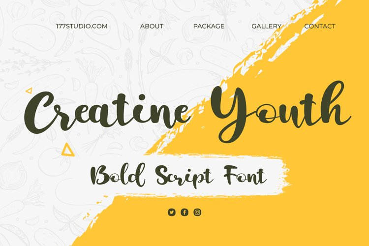 Creatine Youth | Bold Script Font example image 1