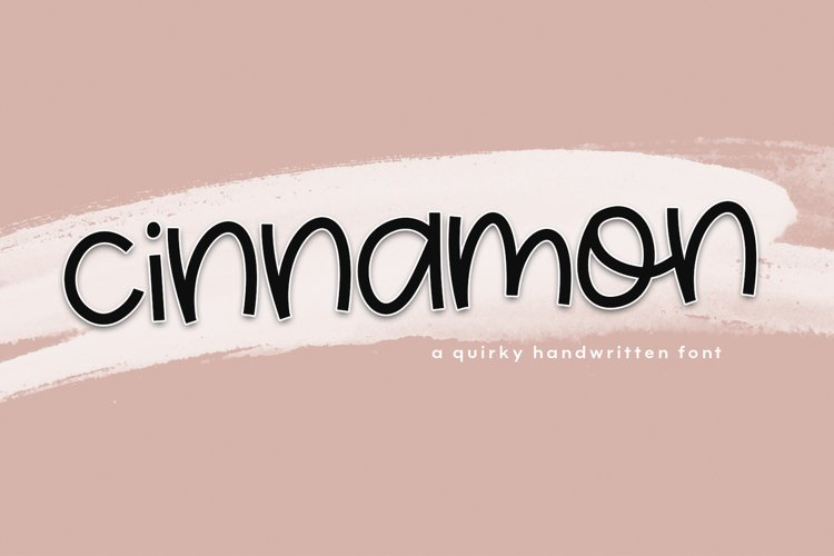 Cinnamon - A Fun & Quirky Font example image 1