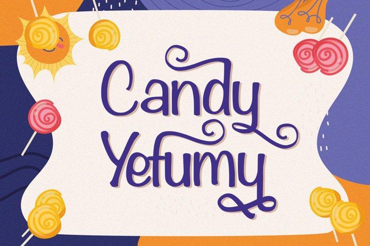 Candy Yefumy - Playful Display Font example image 1