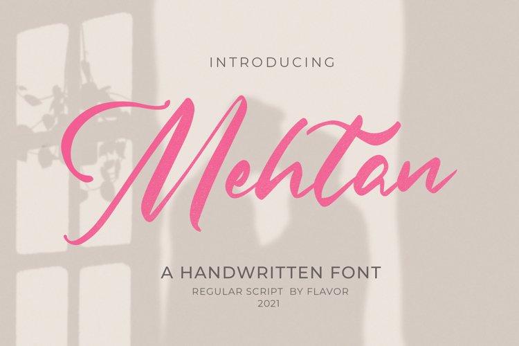 Mehtan Script example image 1