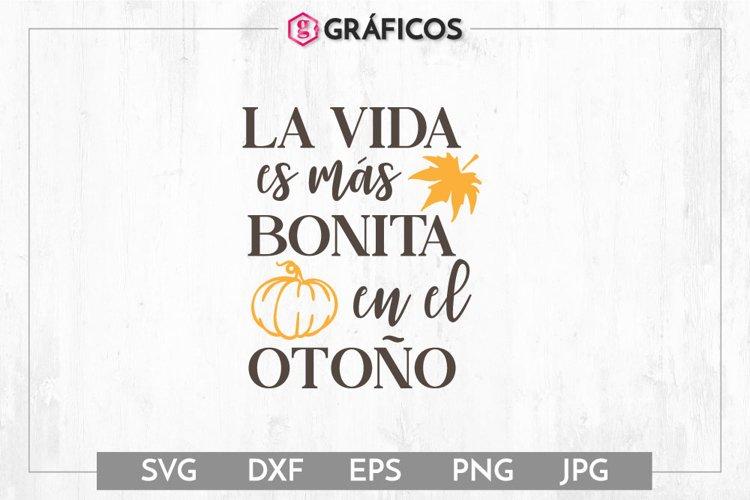 La vida es más bonita en el otoño SVG - Otoño SVG - Calabaza example image 1