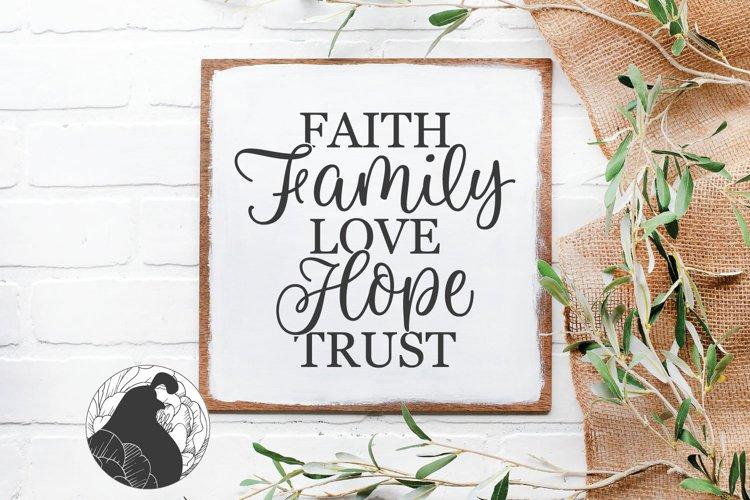 Faith Family Love Trust Hope SVG, Christian SVG