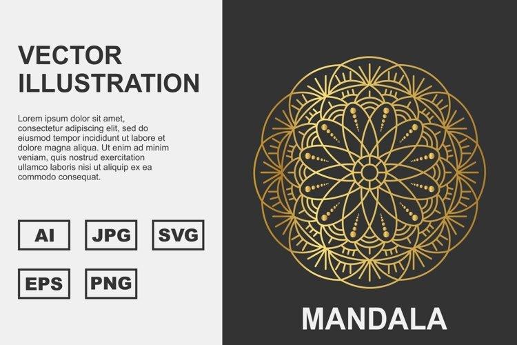 Golden Vector mandala Illustration Design