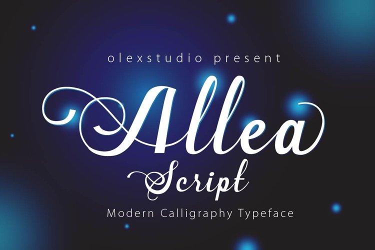 New Allea Script example image 1