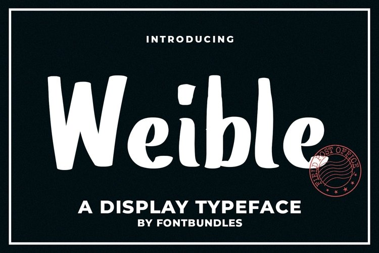 Web Font Weible example image 1