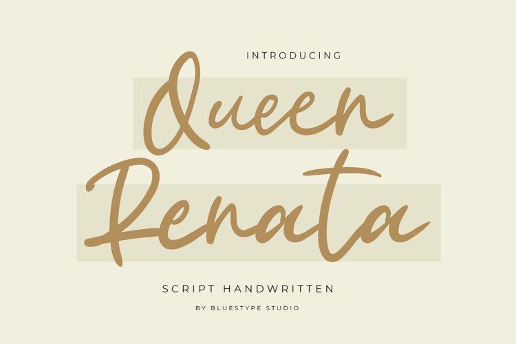 Queen Renata - Script Handwritten