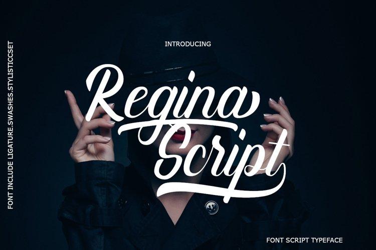 Regina Script example image 1