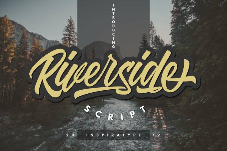 Riverside - Script Font example image 1
