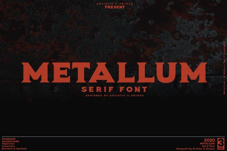Metallum - Serif font Family example image 1