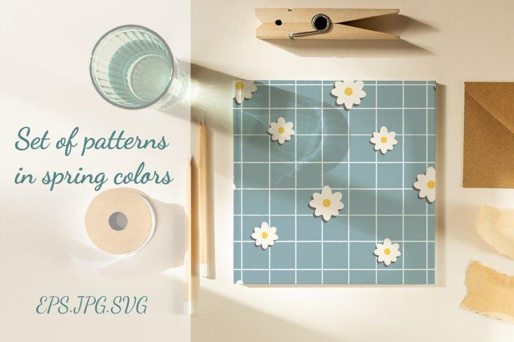 Set of striped patterns in spring colors SVG JPG EPS